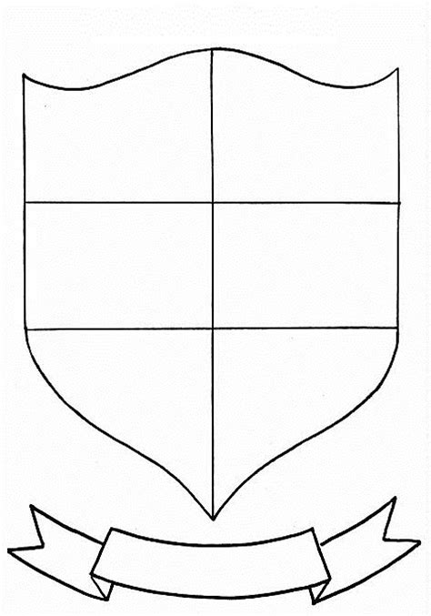 family shield template crest template cliparts co