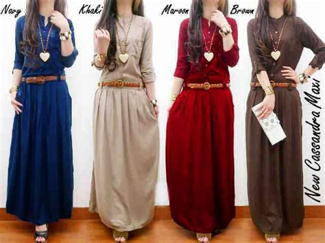 Maxi Kancing maxi remaja g224 dress wanita casual