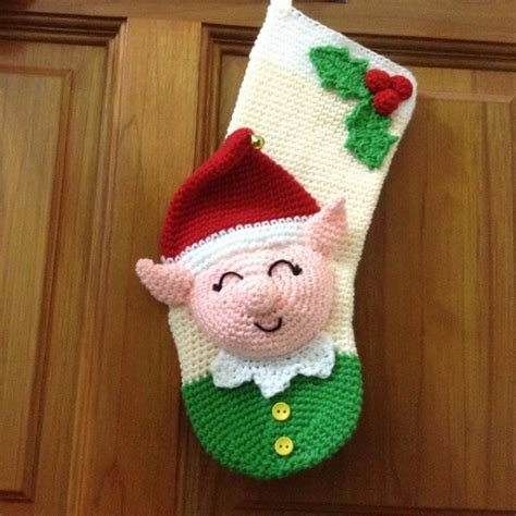 pattern for little christmas stocking elf christmas stocking crochet pattern