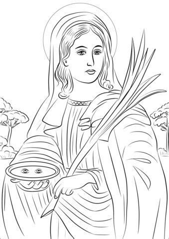 Saint Lucy coloring page | Free Printable Coloring Pages U Coloring Page