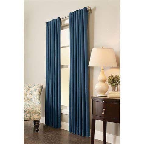 Solaris Outdoor Curtains Solaris Semi Opaque Room Darkening 95 In L Polyester Panel In Indigo 1634035 The Home Depot