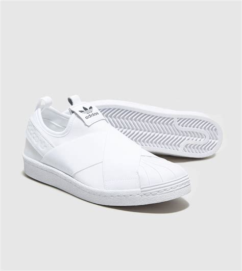 adidas slip on original adidas originals superstar slip on women s in white lyst