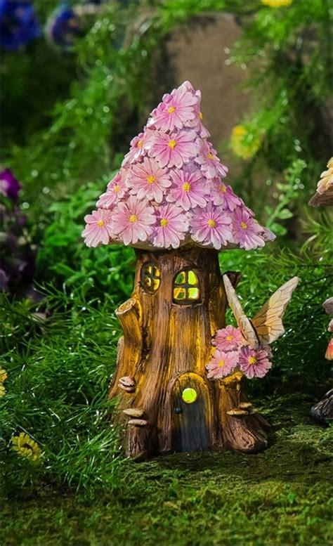 spring petals lighted fairy house short
