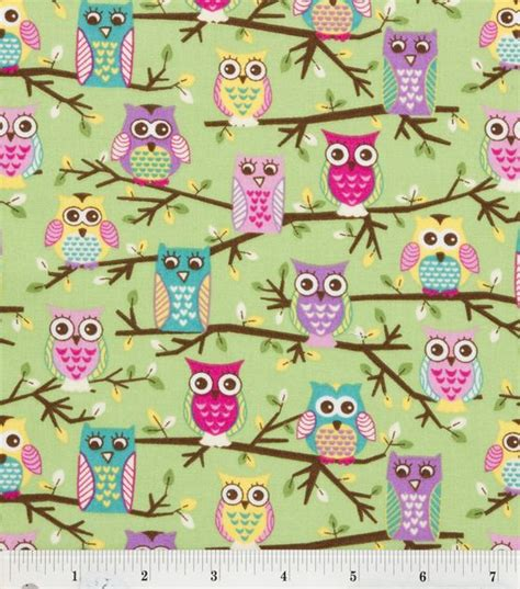 Owl Quilting Fabric by Novelty Quilt Fabric Owls Mint At Joann Sewing