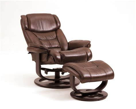 Reclining Chair With Footstool by Leather Chair And Ottoman
