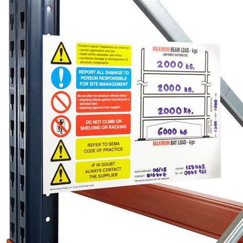 pallet racking load chart rigid plastic xx mm