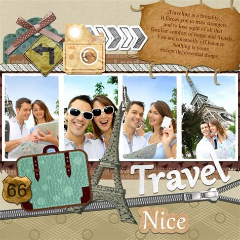 Creative Scrapbook Templates and Ideas   Inspiration for