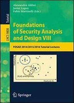 design pattern lecture notes foundations of security analysis and design viii fosad
