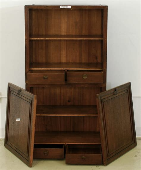 japanese bookshelves antique book cabinet asian bookcases new