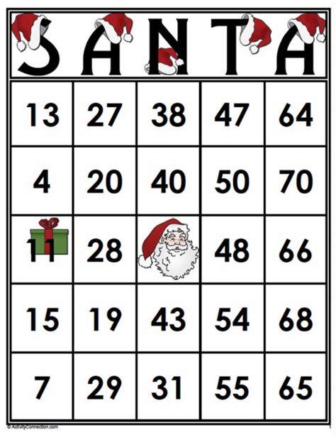 Printable Santa Bingo Cards | 35 santa bingo cards