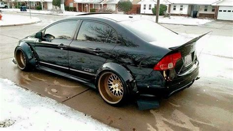 honda civic si modified heavily modified honda civic si widebody stance slammed