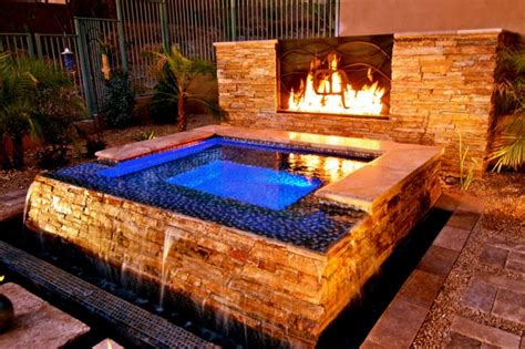 Spa And Fireplace by 10 Phenomenal Backyard Tub Ideas For A Home