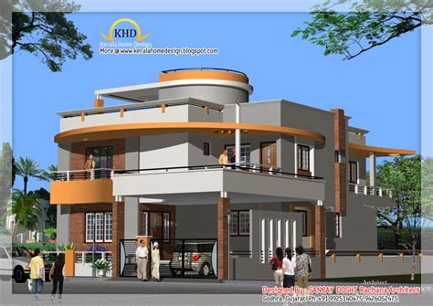 home design plan and elevation duplex house plan and elevation kerala home design and