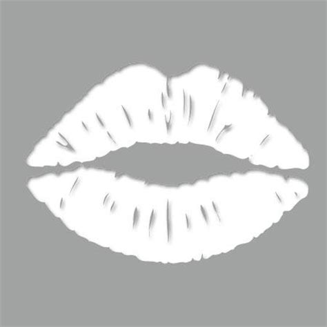 pochoir adhesif bouche  stickers malin