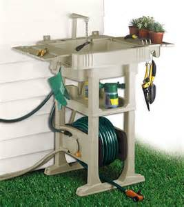 Garden Hose Sink The No Crank Hose Reel With Sink Station Is Great For