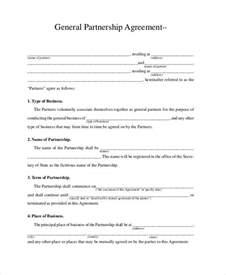 general partnership agreement 9 free pdf word