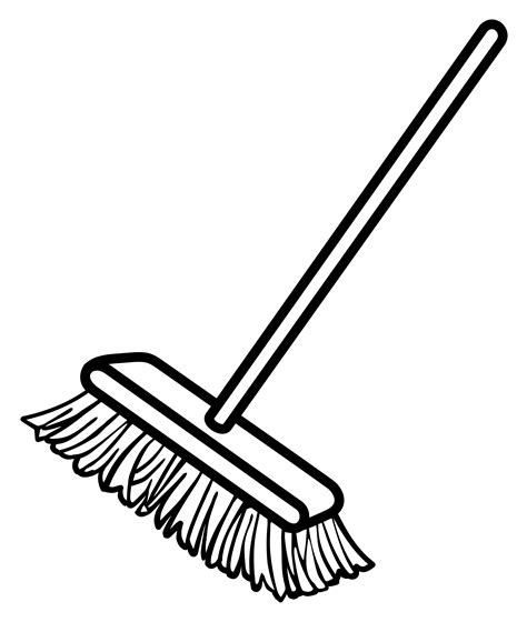 Broom Clipart Black And White clipart broom line