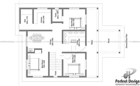 32 square meters to feet 1184 sq ft 3 bed room home kerala home design