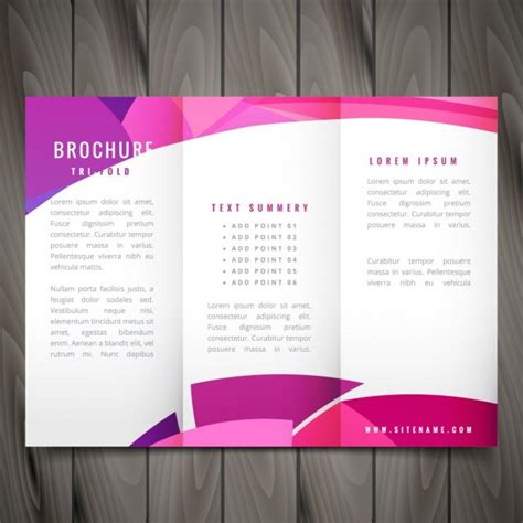 brochure design with trifold colorful template brochure vectors photos and psd files free download