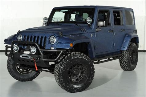 ferrari lifted ferrari blue nart kevlar custom 2014 jeep wrangler
