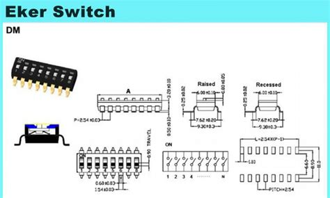 Dip Switch 6 Position 6 Pin Merah 4 position 8 pin ic type smd dip switch with rohs buy 8