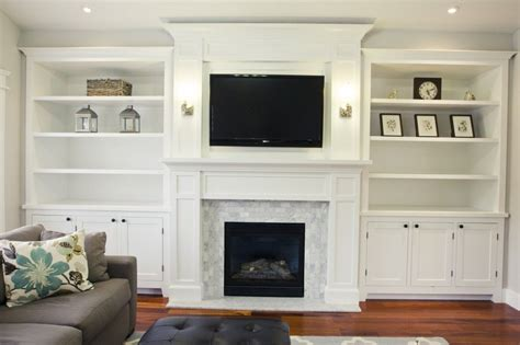 diy built in cabinets around fireplace fireplace built ins on bookshelves around