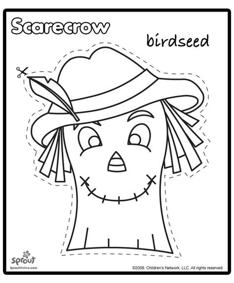 printable scarecrow patterns scarecrow template