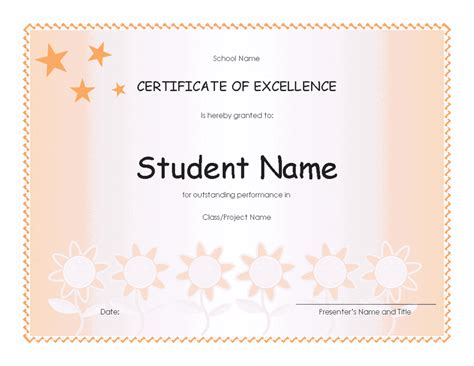 free outstanding student printable certificates certificates