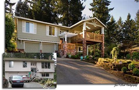 split level homes before and after split level