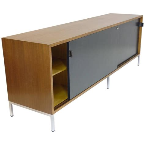 walnut credenza sideboard by florence knoll in veneered walnut credenza