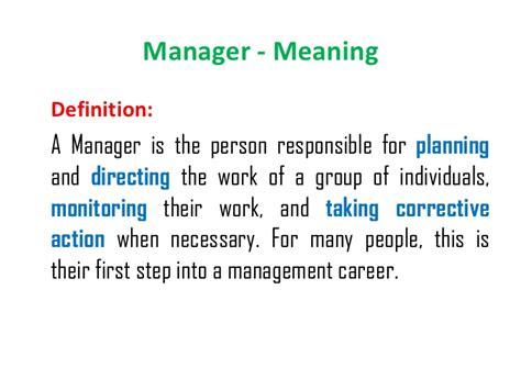 manager description functions of management