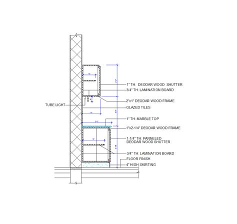 2D CAD Kitchen Cabinet Detail   CADBlocksfree  CAD blocks free