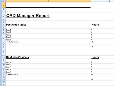 manager weekly report template spreadsheet template for weekly cad manager reports cadalyst