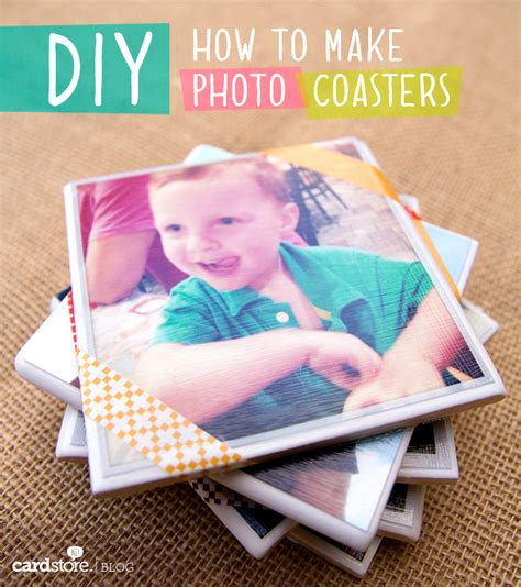 How To Make Coasters Out Of Tiles And Scrapbook Paper - how to make diy photo coasters cardstore