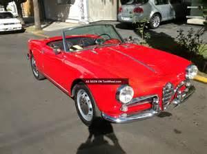 1957 Alfa Romeo Giulietta Spider Alfa Romeo Giulietta Spider 1957