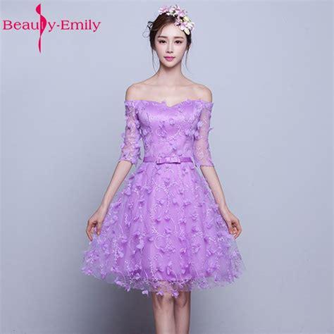 emily purple pink half sleeve flowers tulle purple bridesmaid dresses 2017 prom