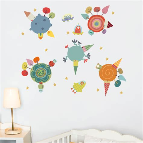 planet stickers for walls planets wall decal rosenberryrooms