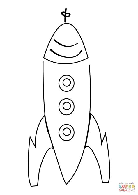 Enchanting Simple Rocket Ship Coloring Page Component - Ways To Use ...