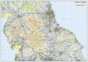 Map Of Northern England by Northern England Map 163 14 99 Cosmographics Ltd