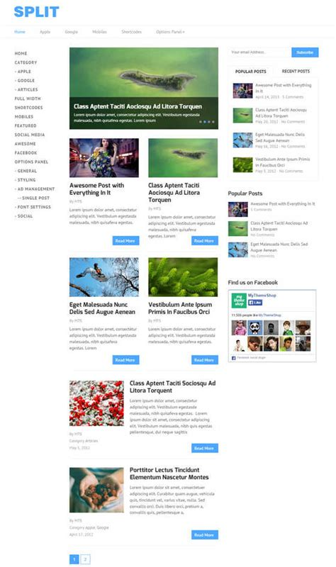 split layout wordpress 10 best hand picked technology blog wordpress themes