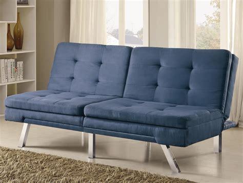 blue tufted bed 300212 blue microfiber split back tufted sofa bed from coaster 300212 coleman