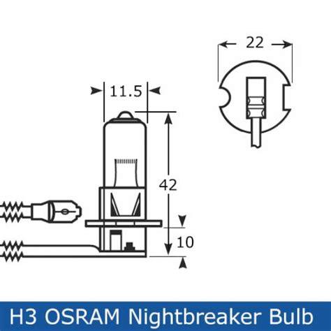 Lu Osram H3 Nbr Unlimited Nbu 12v 55w Berkualitas Oxh3nbu h3 osram breaker unlimited 110 upgrade xenon headlight bulbs pair