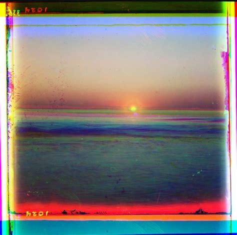 nemfrogsunset  sea color separation negatives sergei mikhailovich prokudin gorskii
