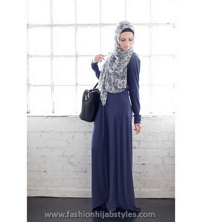 Dress Inayah 001 inayah collection 2014 and abaya styles lookbook denim abayas new modern fashion