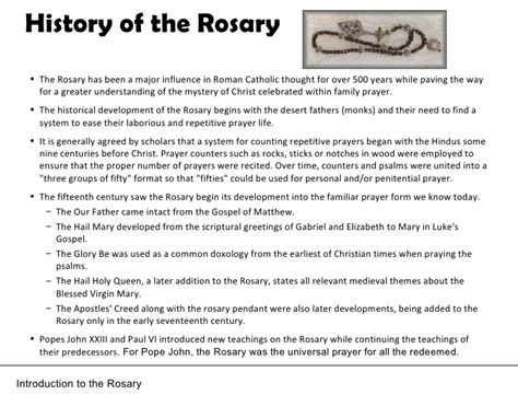 rosary origin how to pray rosary power point