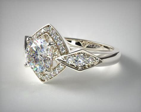 deco gold engagement rings deco geometric engagement ring 14k white gold 17022w14