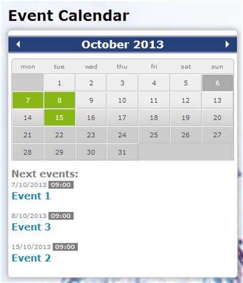 jquery event calendar drupalorg