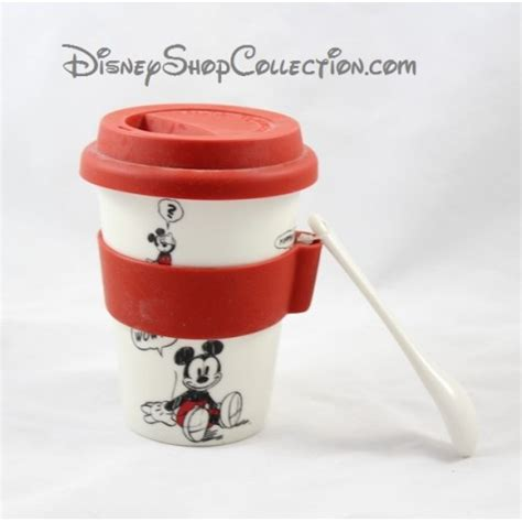Disney Ceramic Mickey Mouse Travel Mug - travel mug mickey disneyland ceramic lid silicone