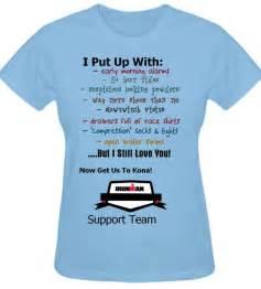T Shirt Work Go Running ironman race day supporter shirts great idea http