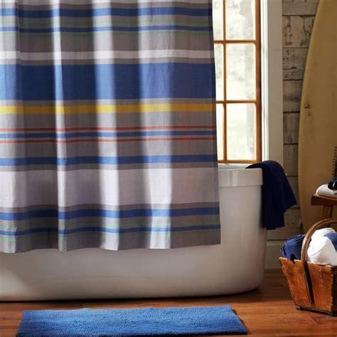 teen boy shower curtains southport stripe shower curtain pbteen